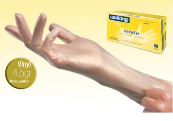 Zaštitne rukavice od vinila bez praha veličine S