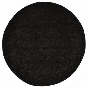 Čupavi ukrasni tepih 120 cm crni
