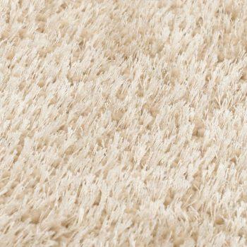 Čupavi ukrasni tepih 140 x 200 cm bež