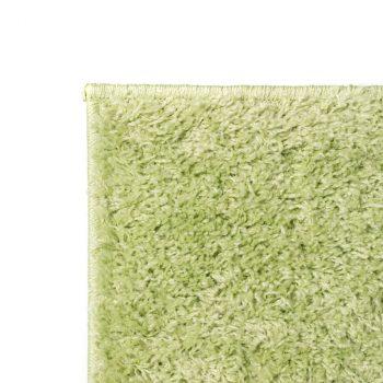 Čupavi ukrasni tepih 140 x 200 cm zeleni