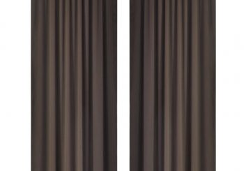 2 kom Smeđi Zastori s Utorima za Šipku 135 x 245 cm