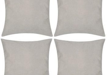 4 Bež Jastučnice Linen-look 40 x 40 cm