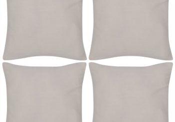 4 Bež Jastučnice Pamuk 50 x 50 cm