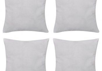 4 Bijele Jastučnice Pamuk 80 x 80 cm