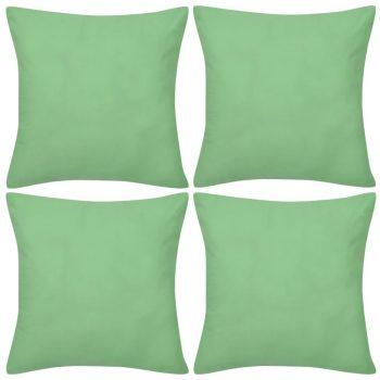 4 Zelene Jastučnice Pamuk 50 x 50 cm