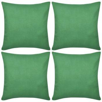 4 Zelene Jastučnice Pamuk 80 x 80 cm