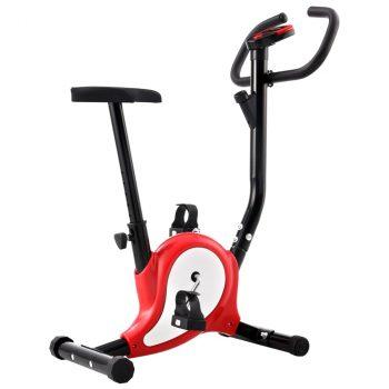 Bicikl za vježbanje s remenom za otpor crveni