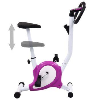 Bicikl za vježbanje s remenom za otpor ljubičasti