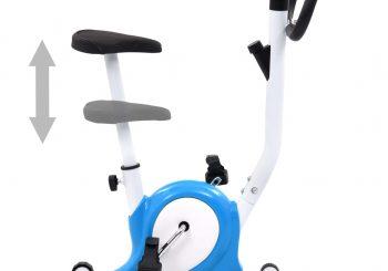 Bicikl za vježbanje s remenom za otpor plavi