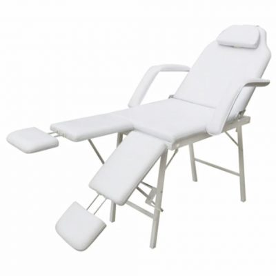 Bijeli krevet za tretmane lica s 2 oslonca za noge