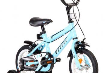 Dječji bicikl 12 inča crno-plavi