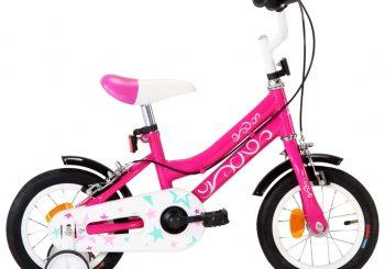 Dječji bicikl 12 inča crno-ružičasti