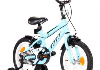 Dječji bicikl 14 inča crno-plavi