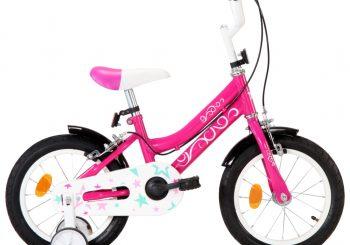 Dječji bicikl 14 inča crno-ružičasti
