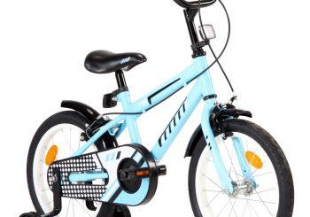 Dječji bicikl 16 inča crno-plavi