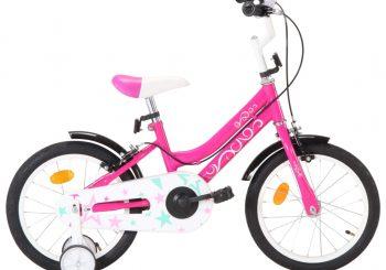Dječji bicikl 16 inča crno-ružičasti