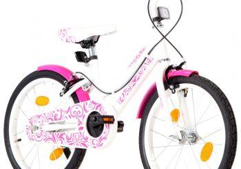 Dječji bicikl 18 inča ružičasto-bijeli