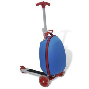 Dječji skuter s plavim koferom