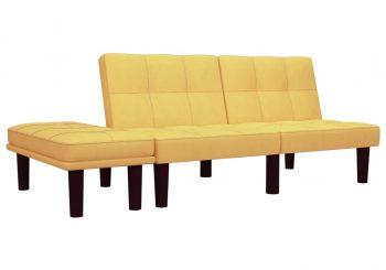 Dvosjed od tkanine žuti