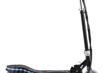 Električni skuter s LED svjetlima 120 W crni