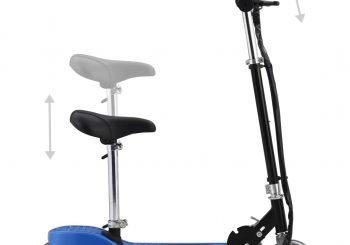 Električni skuter sa sjedalom 120 W plavi