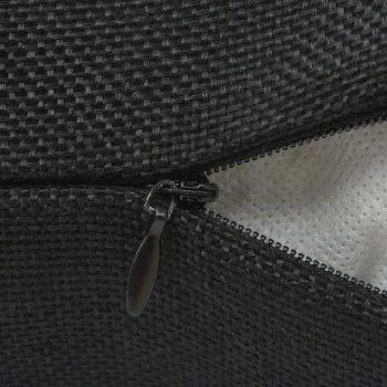 Jastučnica 4 kom Linen-look Crna 80x80 cm
