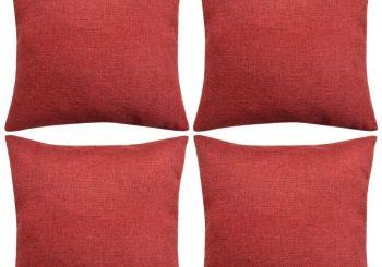 Jastučnica 4 kom. Linen-look Bordo 50x50 cm