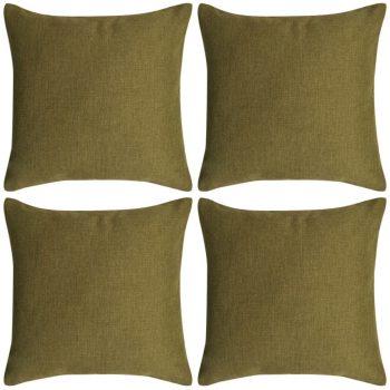 Jastučnica 4 kom. Linen-look Zelena 40x40 cm