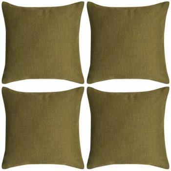 Jastučnica 4 kom. Linen-look Zelena 80x80 cm