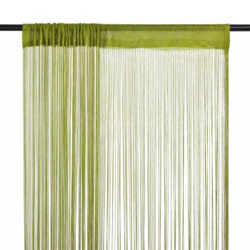 Končane Zavjese 2 kom 100x250 cm Zelene