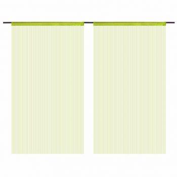 Končane Zavjese 2 kom 140x250 cm Zelene