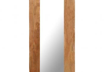 Kozmetičko ogledalo od masivnog bagremovog drva 50 x 110 cm