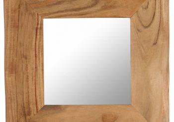Kozmetičko ogledalo od masivnog bagremovog drva 50 x 50 cm