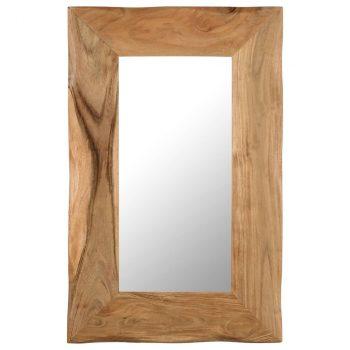 Kozmetičko ogledalo od masivnog bagremovog drva 50 x 80 cm