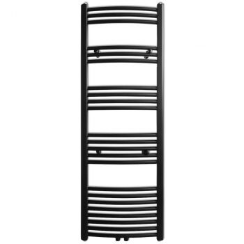 Kupaonski Radijator za Ručnike Centralno Grijanje Crni 500 x 1424 mm