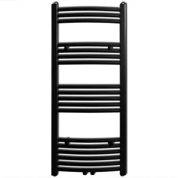 Kupaonski radijator centralnog grijanja za ručnike crni 500 x 1160 mm