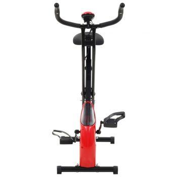 Magnetski bicikl za vježbanje s mjerenjem pulsa crno crveni