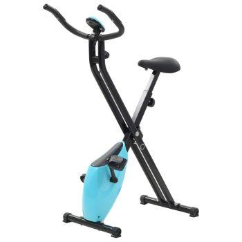 Magnetski bicikl za vježbanje s mjerenjem pulsa crno plavi