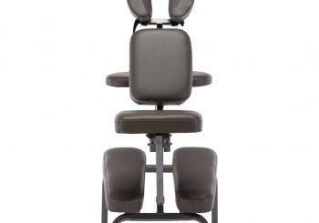 Masažna stolica od umjetne kože antracit 122 x 81 x 48 cm
