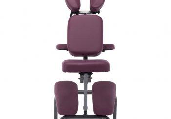 Masažna stolica od umjetne kože boja burgundca 122 x 81 x 48 cm