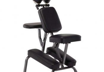 Masažna stolica od umjetne kože crna 122 x 81 x 48 cm
