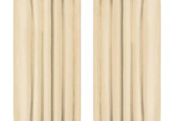 Mikro Satenske Zavjese 2 kom s Tregerima 140x175 cm Bež