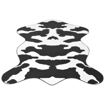 Oblikovani Tepih 150x220 cm Crni Goveđi Print