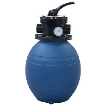 Pješčani filtar za bazen s ventilom s 4 položaja plavi 300 mm