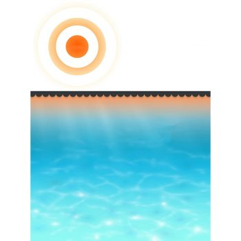 Pokrivač za bazen crni 260 x 160 cm PE