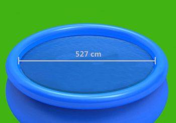 Pokrivač za bazen plavi 527 cm PE