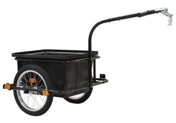 Prikolica za bicikl crna 50 L