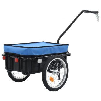 Prikolica za bicikl / ručna kolica 155 x 61 x 83 cm čelična plava
