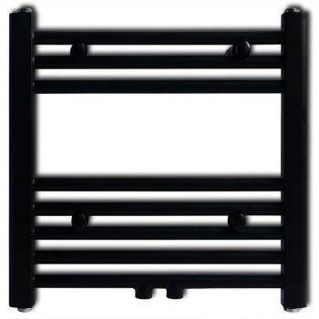 Radijator za Kupaonicu za Centralno Grijanje Ravni Crni 480 x 480 mm