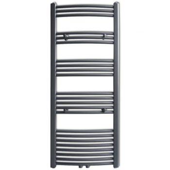 Radijator za Kupaonu za Centralno Grijanje Sivi 600 x 1424 mm